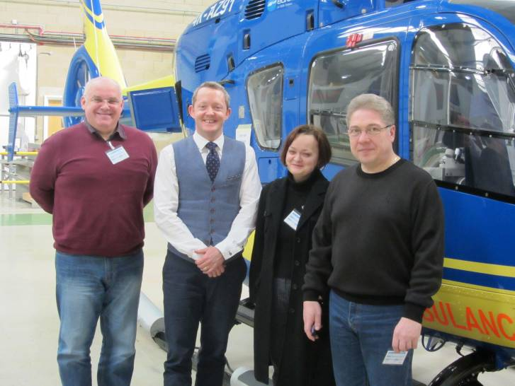 The delegation from Arkhangelsk Region Rescue Service visit the UK