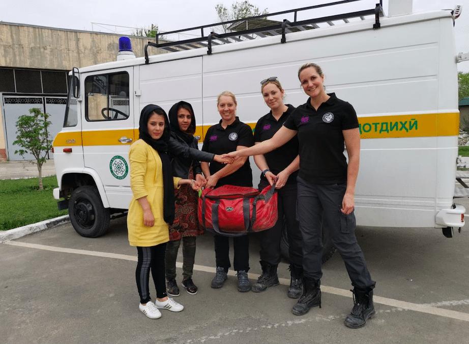 FIRE AID member, Women in the Fire Service deliver training to women in Tajikistan