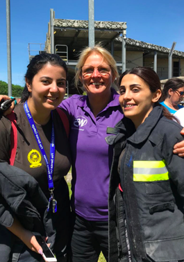 FIRE AID member, Women in the Fire Service host female firefighters from Lebanon.