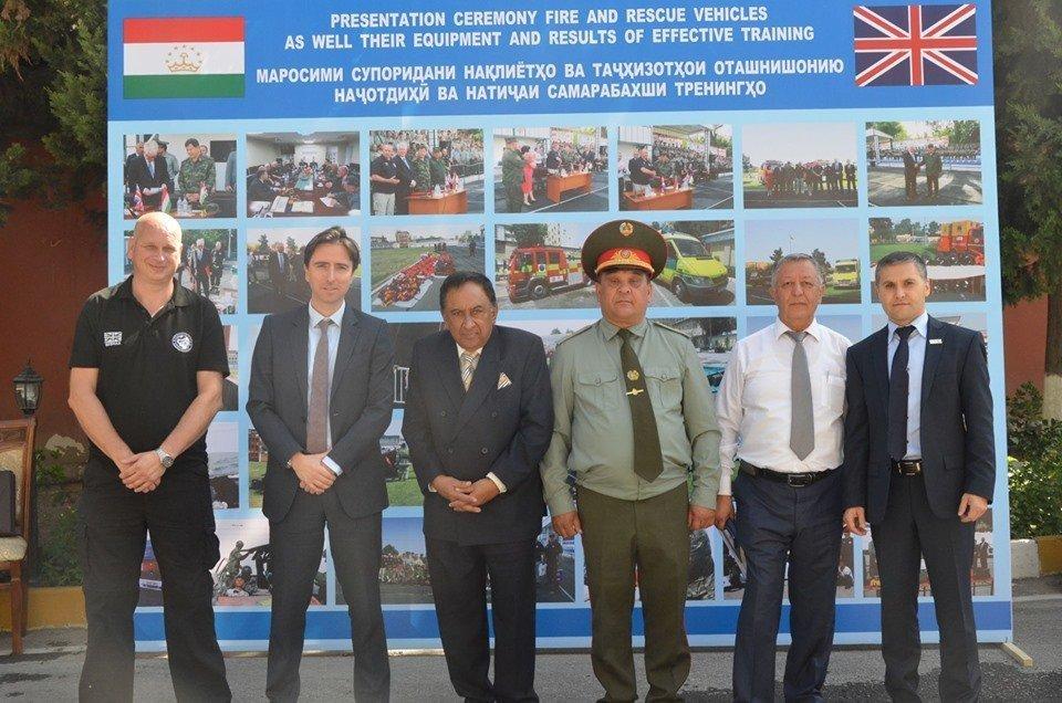 FIRE AID attends members Tajikistan project handover ceremony