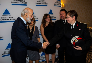 HRH Prince Michael recognises FIRE AID's contribution to post-crash response with International Premier Award.